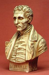Louis Braillen patsas.