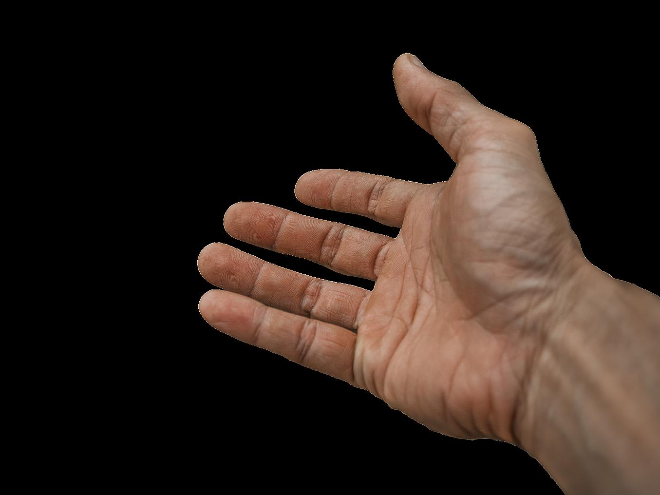 Avoin käsi.