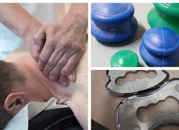 manuaalisen terapian menetlemiä: hieronta, imukuppihieronta ja kalvokäsittely